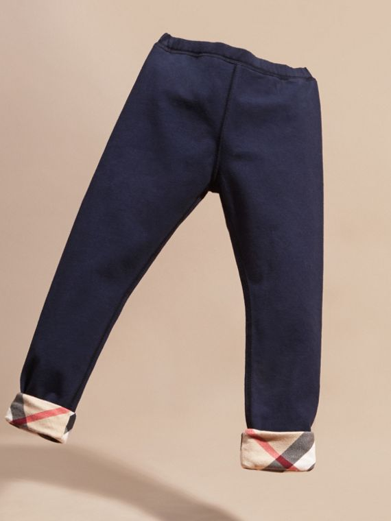 Navy Stretch Cotton Leggings - cell image 2