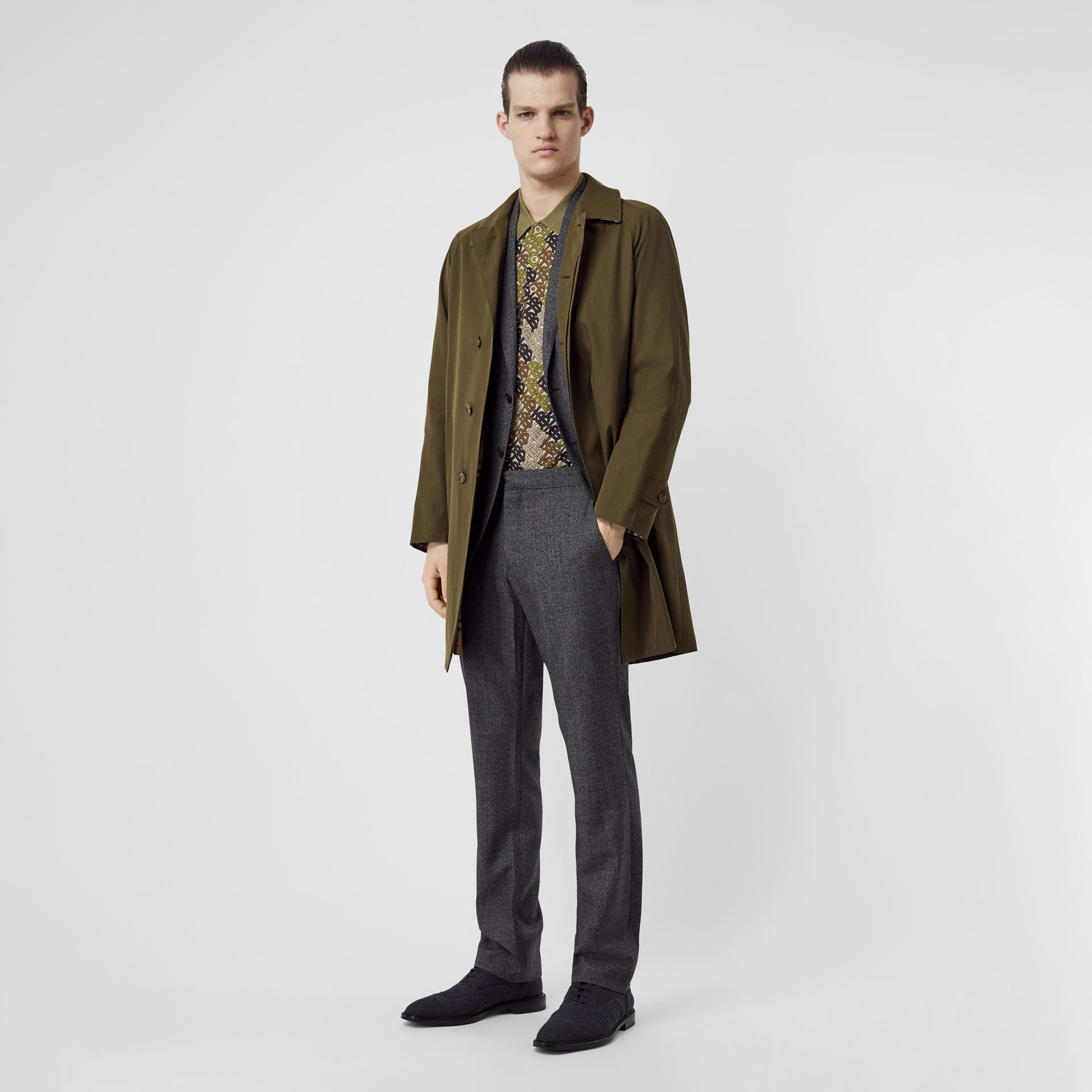 Car Coat The Camden (Kaki Militaire Foncé) - Homme | Burberry - photo de la galerie 0