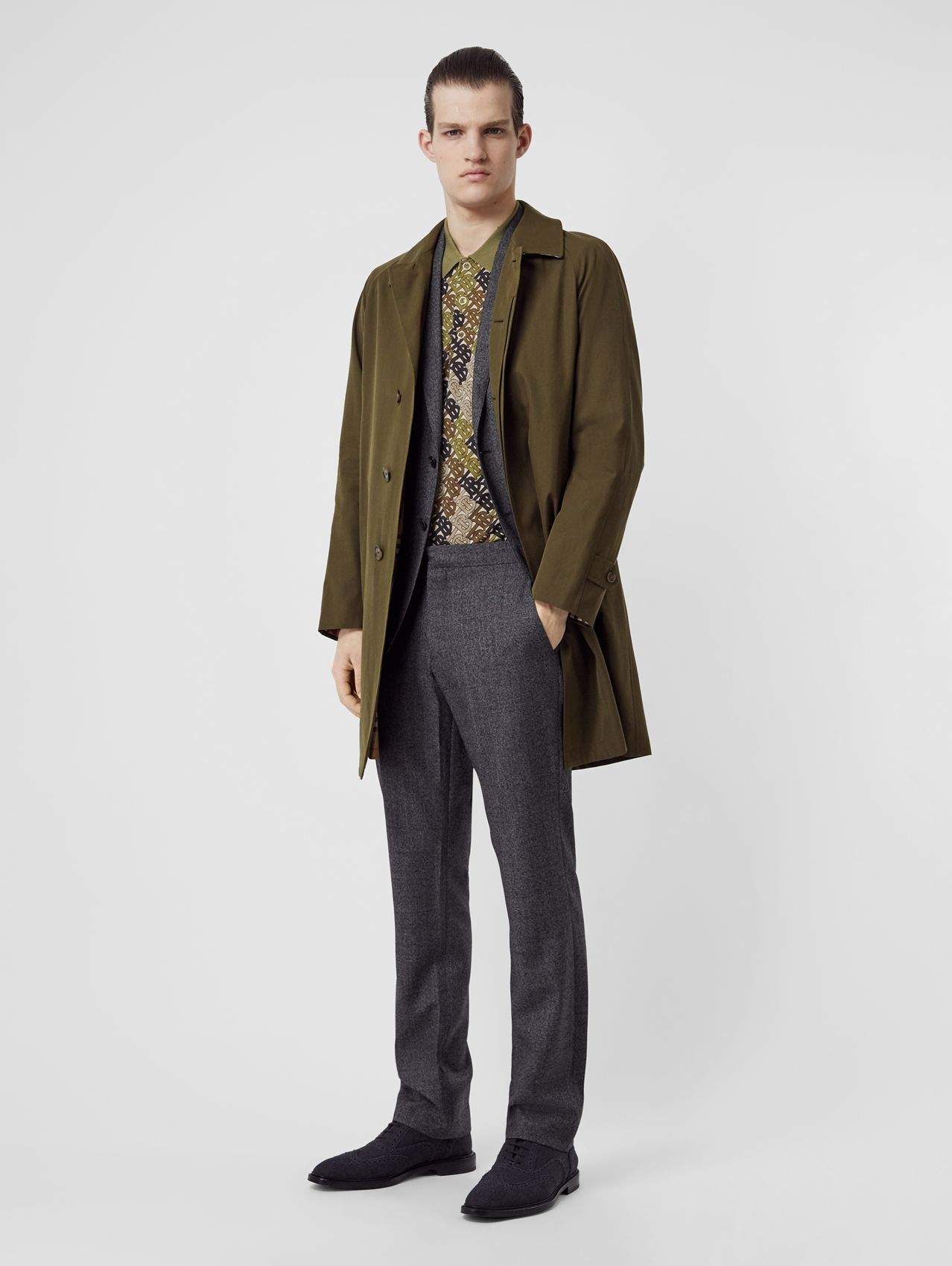 The Camden Car Coat in Dark Military Khaki