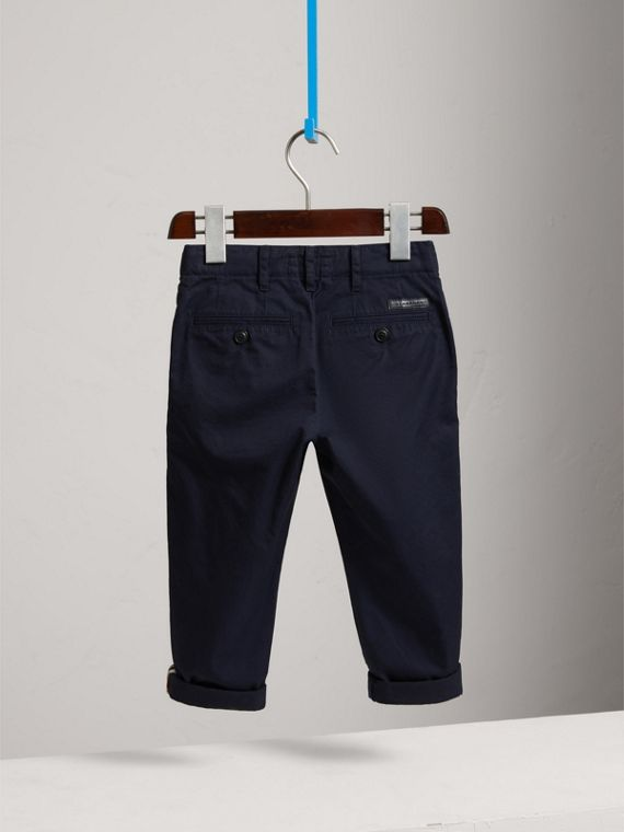 Cotton Chinos in Ink - Boy | Burberry United States - cell image 3