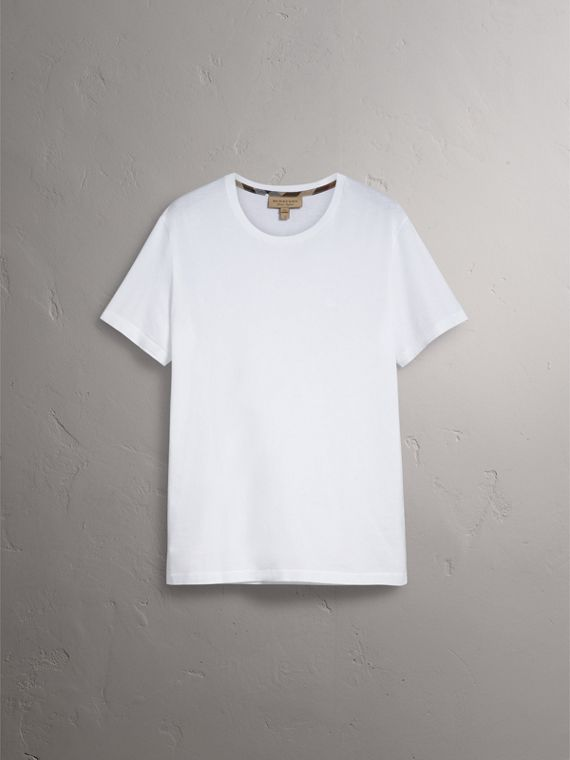 Cotton Jersey T-shirt in White - Men | Burberry Australia - cell image 3