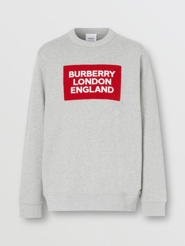 標誌貼花棉質運動衫 (淡混合灰) - 男款 | Burberry - cell image 3