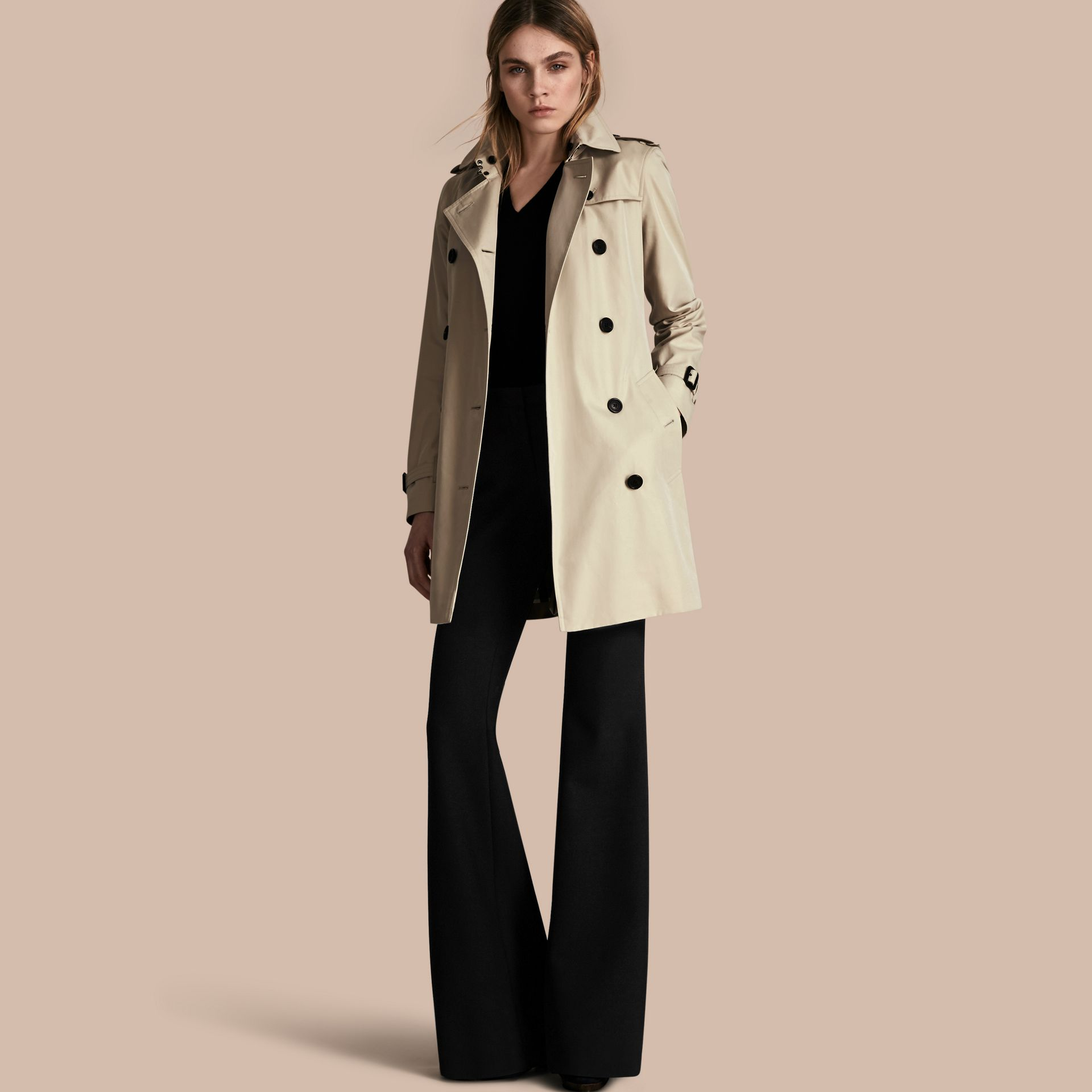 Stone The Kensington – Mid-Length Heritage Trench Coat Stone - gallery image 1