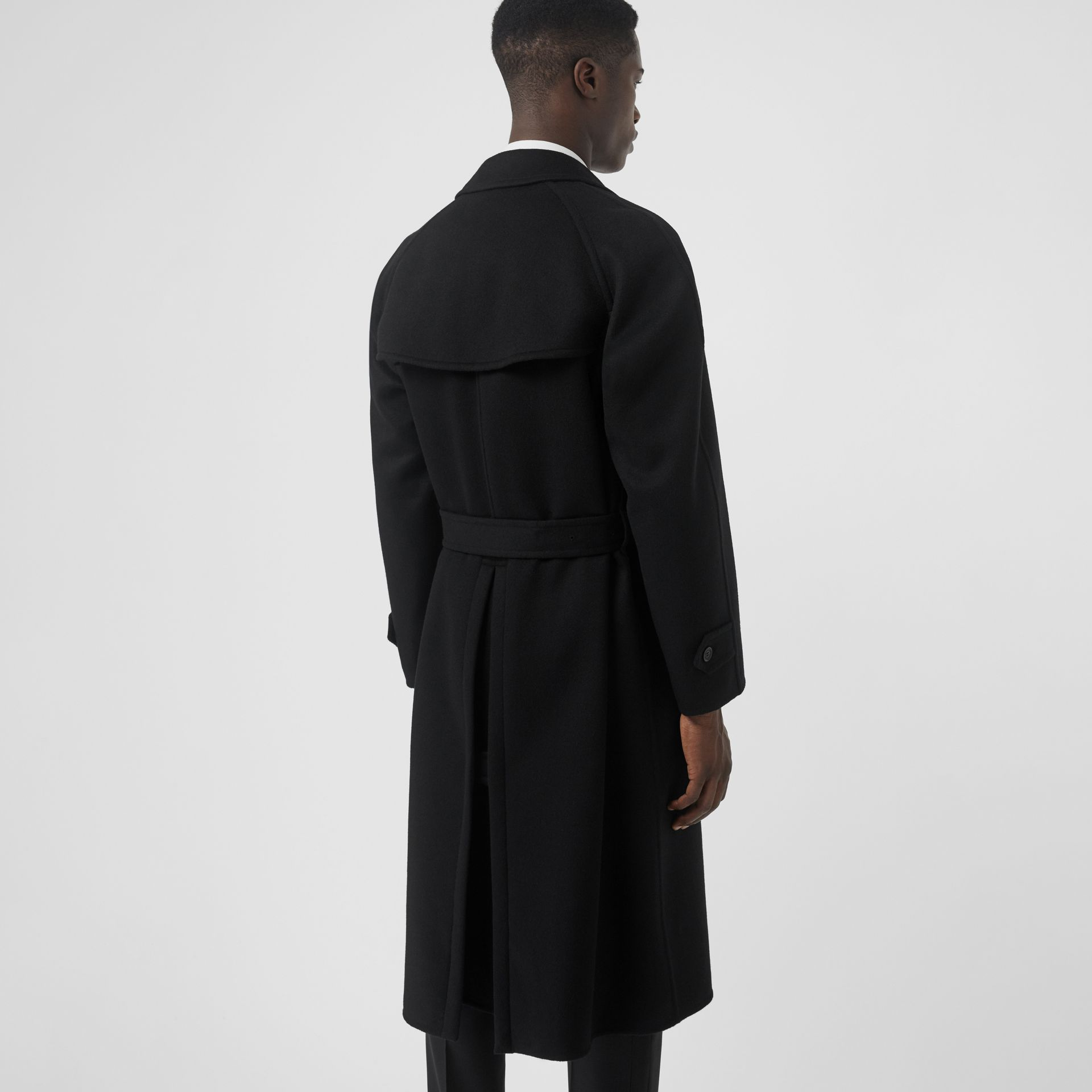 Double-faced Cashmere Trench Coat in Black - Men | Burberry Canada - gallery image 2