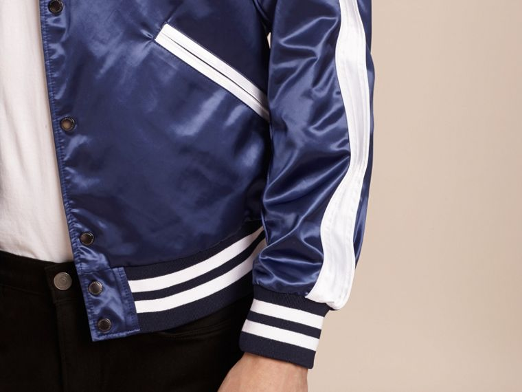 Bright navy Varsity Bomber Jacket - cell image 4