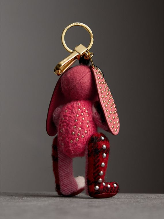 Sandra The Basset Hound Cashmere Charm in Rose Pink | Burberry - cell image 3