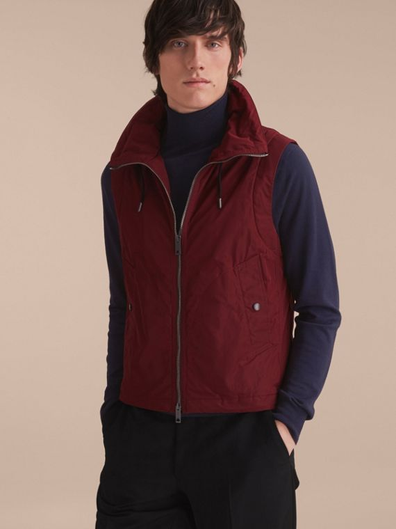 Lightweight Cotton Car Coat with Detachable Gilet Navy - cell image 2