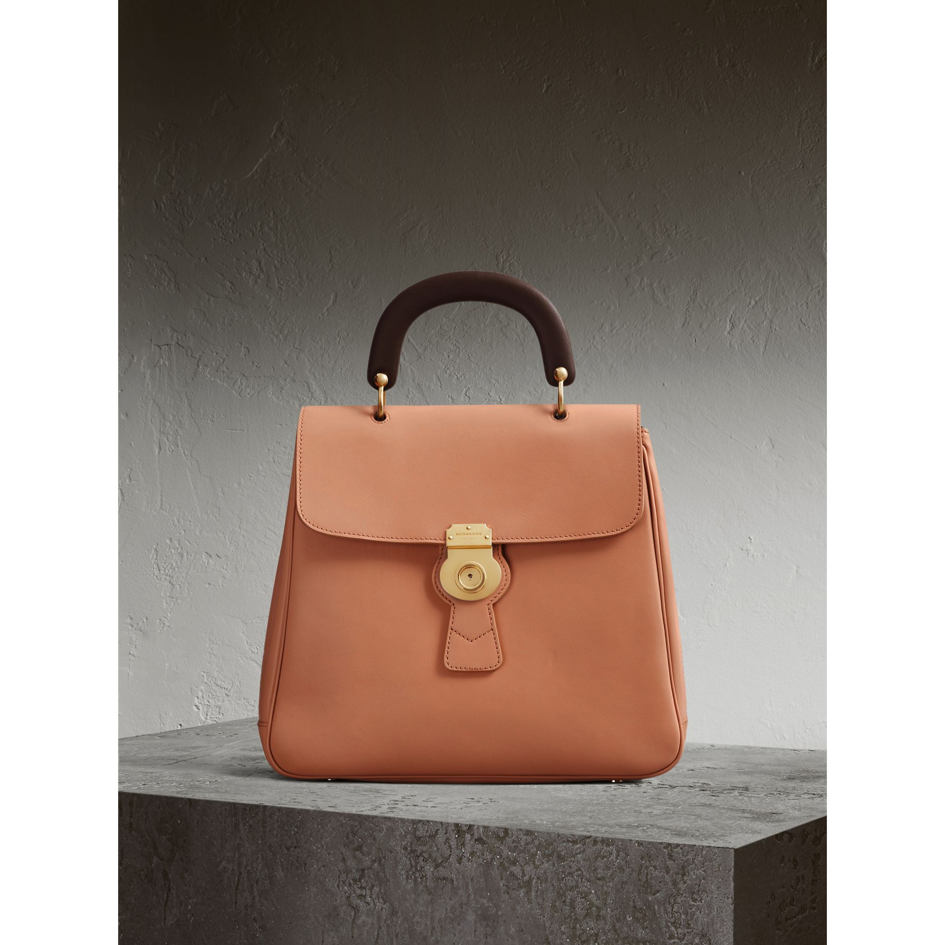 The Large DK88 Top Handle Bag in Pale Clementine - Women | Burberry - gallery image 1