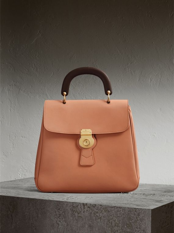 The Large DK88 Top Handle Bag in Pale Clementine - Women | Burberry