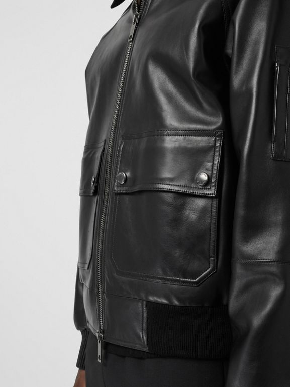 Lambskin Bomber Jacket in Black - Men | Burberry Canada - cell image 1