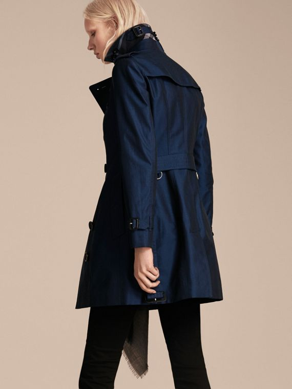 Bright regency blue Cotton Gabardine Trench Coat Bright Regency Blue - cell image 2