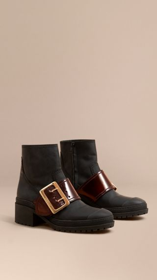 Bottines The Buckle en cuir caoutchouté