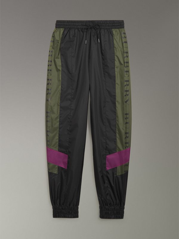 Logo Panel Shell Suit Pants in Black - Men | Burberry Australia - cell image 3