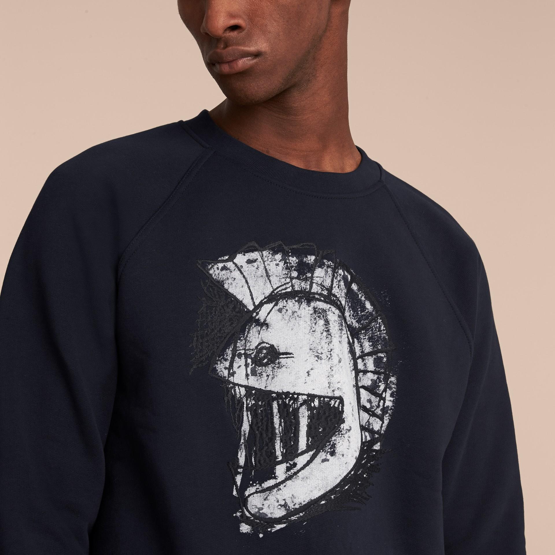 Unisex Pallas Helmet Motif Sweatshirt - Men | Burberry - gallery image 5