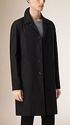 Long Cotton Gabardine Car Coat
