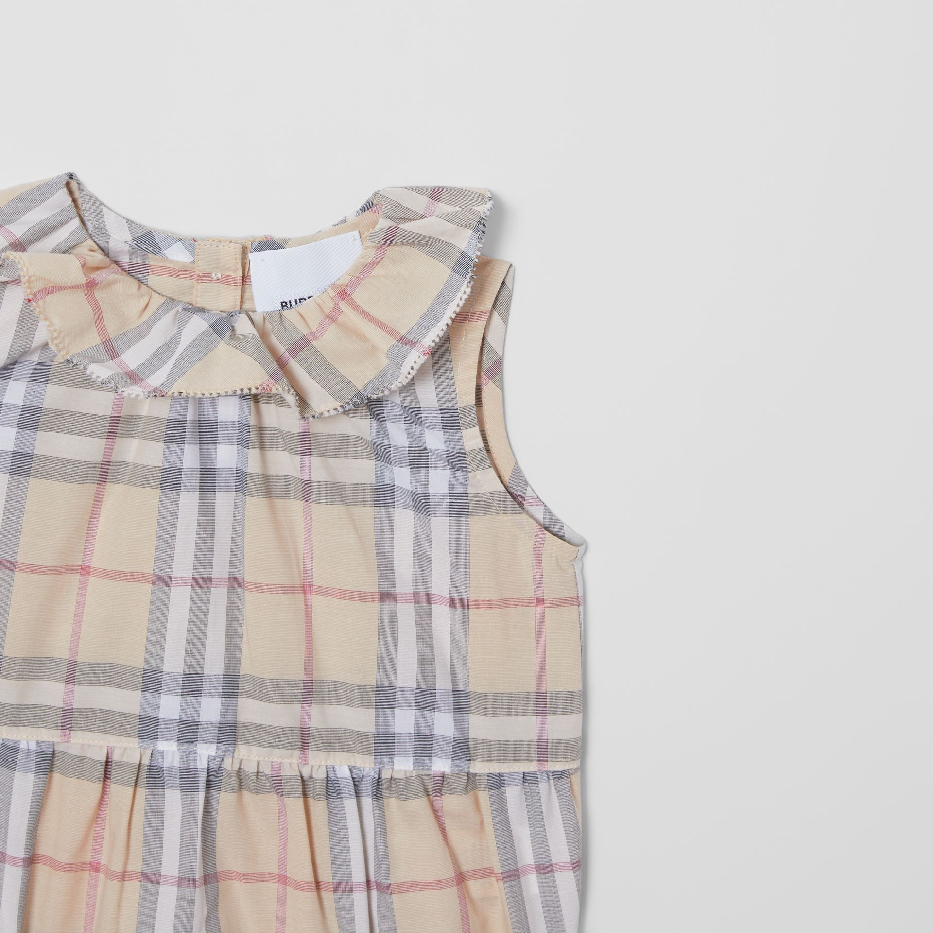 Vintage Check Cotton Three-piece Baby Gift Set in Pale Stone - Children | Burberry United States - gallery image 8