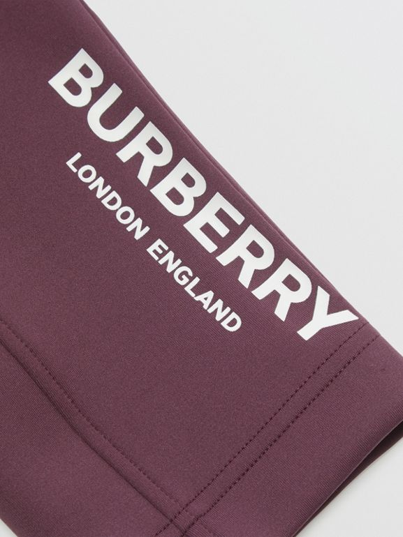 Logo Print Lightweight Trackpants in Claret | Burberry - cell image 1