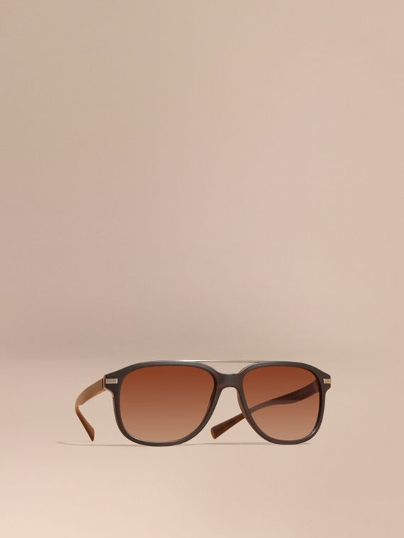 Square Frame Sunglasses in Tortoise Shell