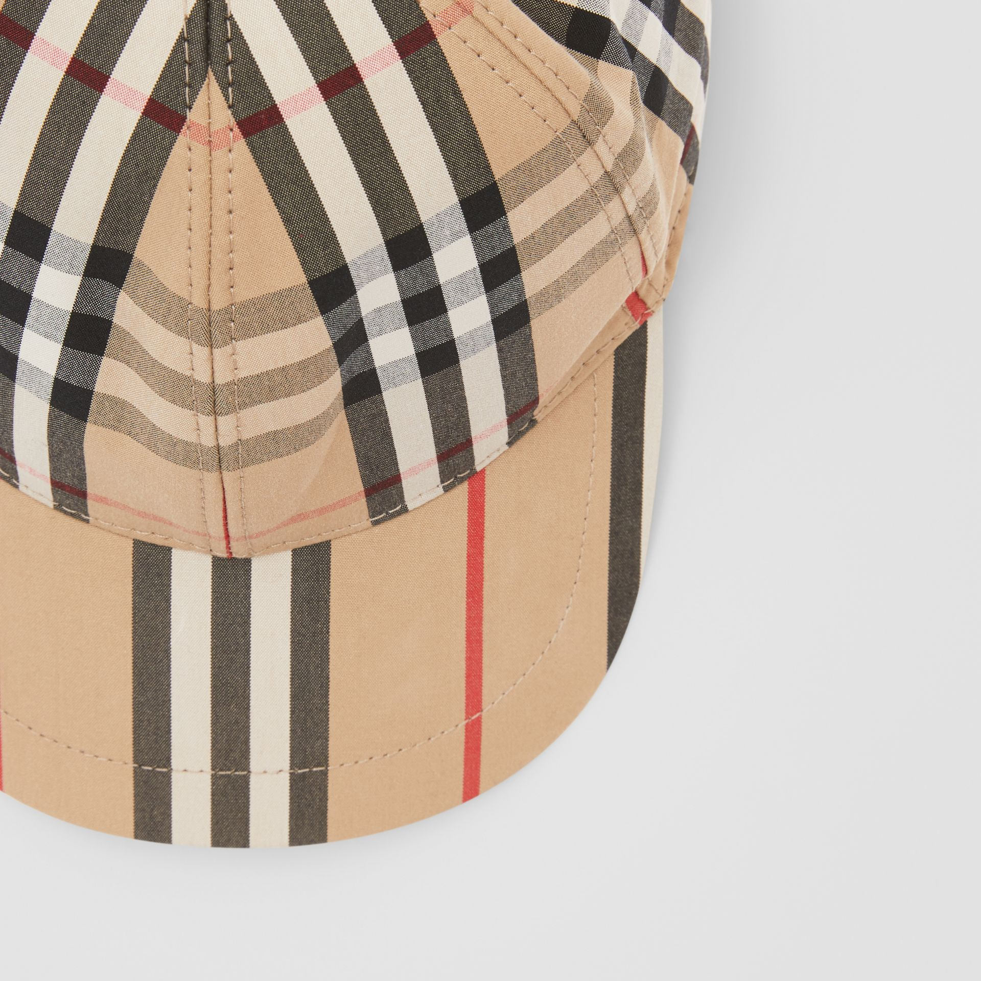 Vintage Check and Icon Stripe Baseball Cap in Archive Beige - Children | Burberry Australia - gallery image 1