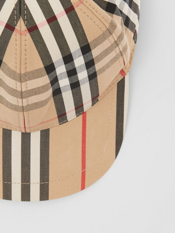 Vintage Check and Icon Stripe Baseball Cap in Archive Beige - Children | Burberry Australia - cell image 1