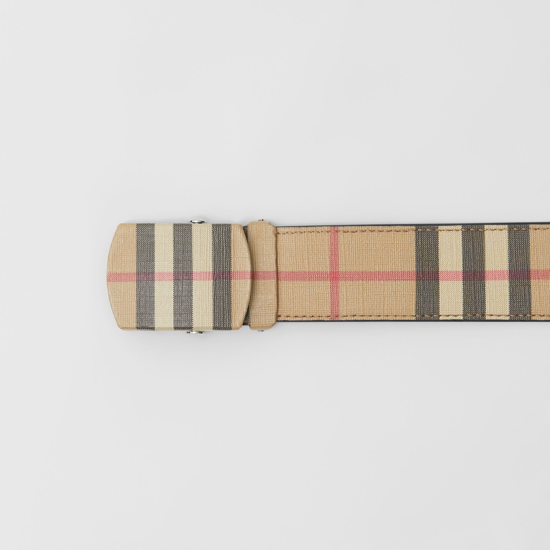 Vintage Check E-canvas Belt in Archive Beige - Men | Burberry United Kingdom - gallery image 1