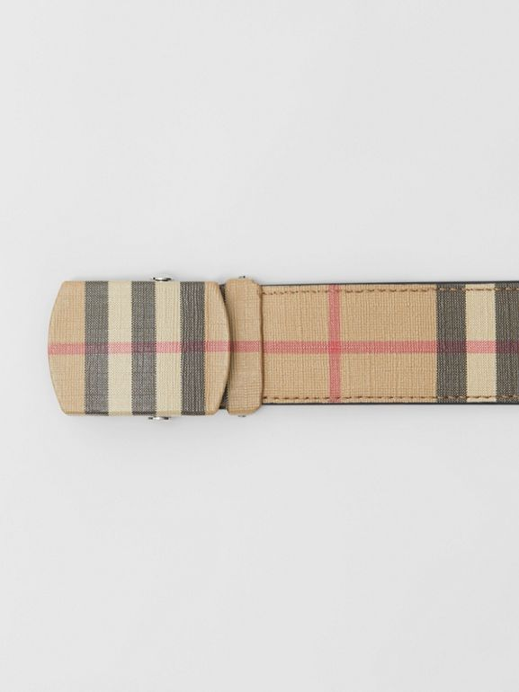 Vintage Check E-canvas Belt in Archive Beige - Men | Burberry United Kingdom - cell image 1