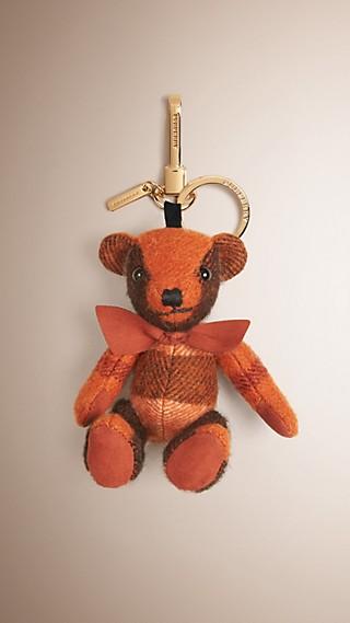 Bijou porte-clés Thomas Bear en cachemire à motif check