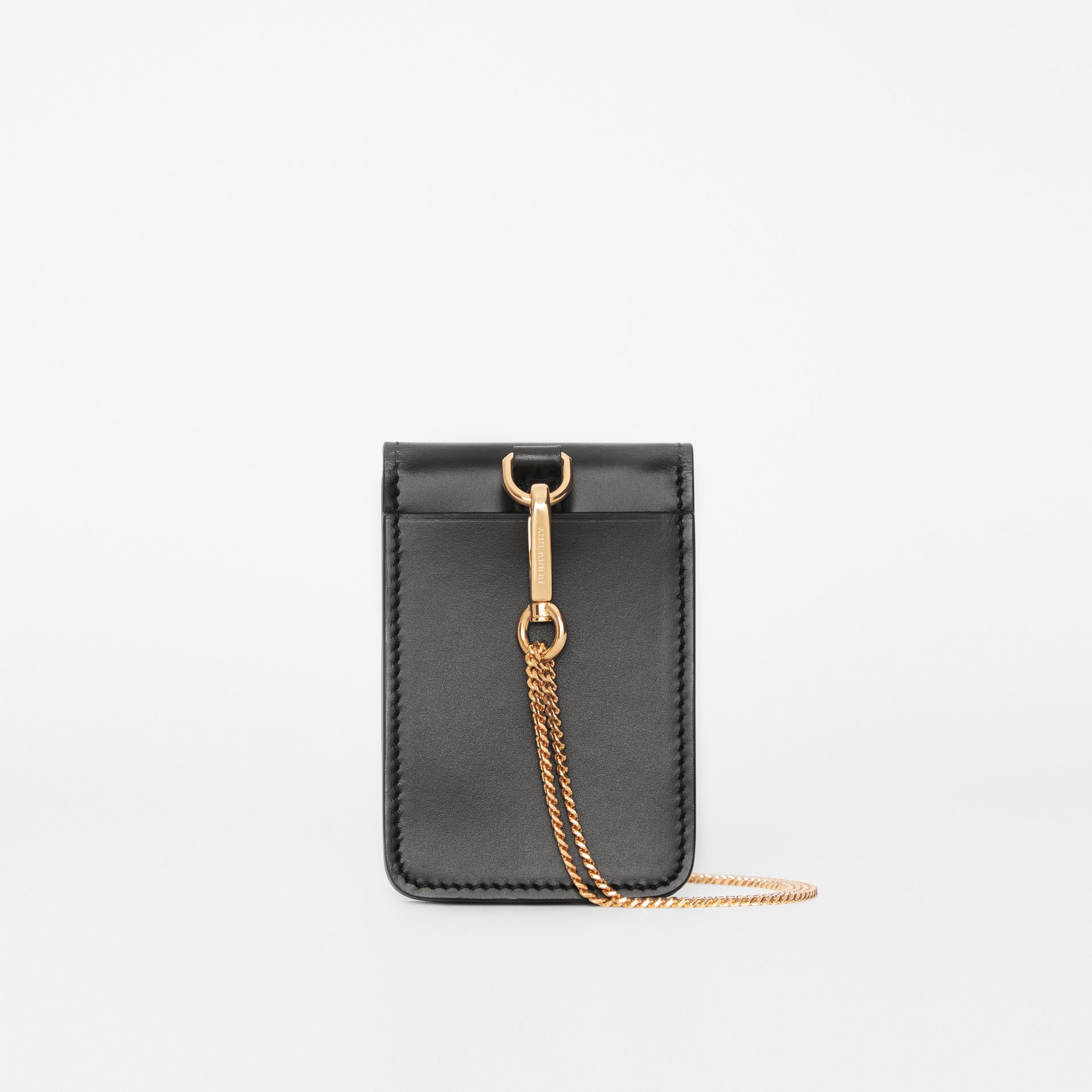 Horseferry Print Leather Card Case Lanyard in Black - Women | Burberry - gallery image 5