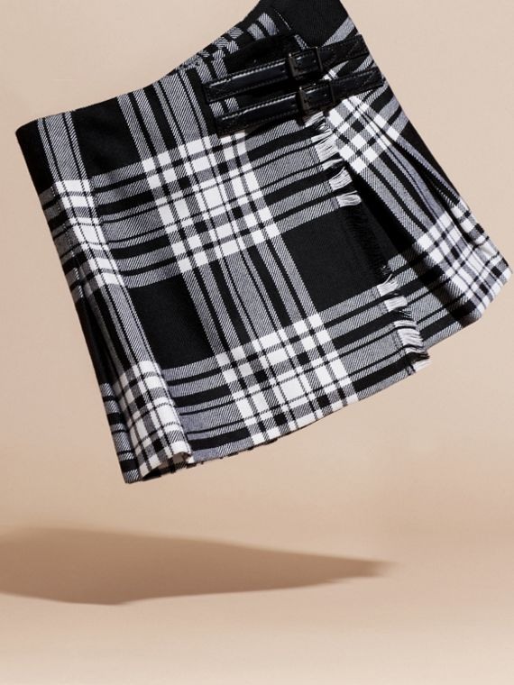 Black/white Check Wool Kilt - cell image 2