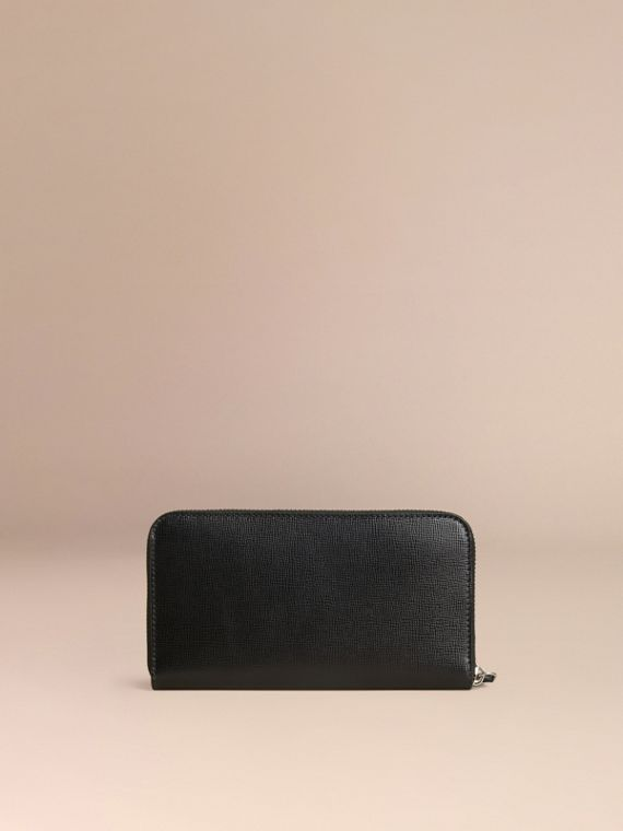 London Leather Ziparound Wallet in Black | Burberry Canada - cell image 3