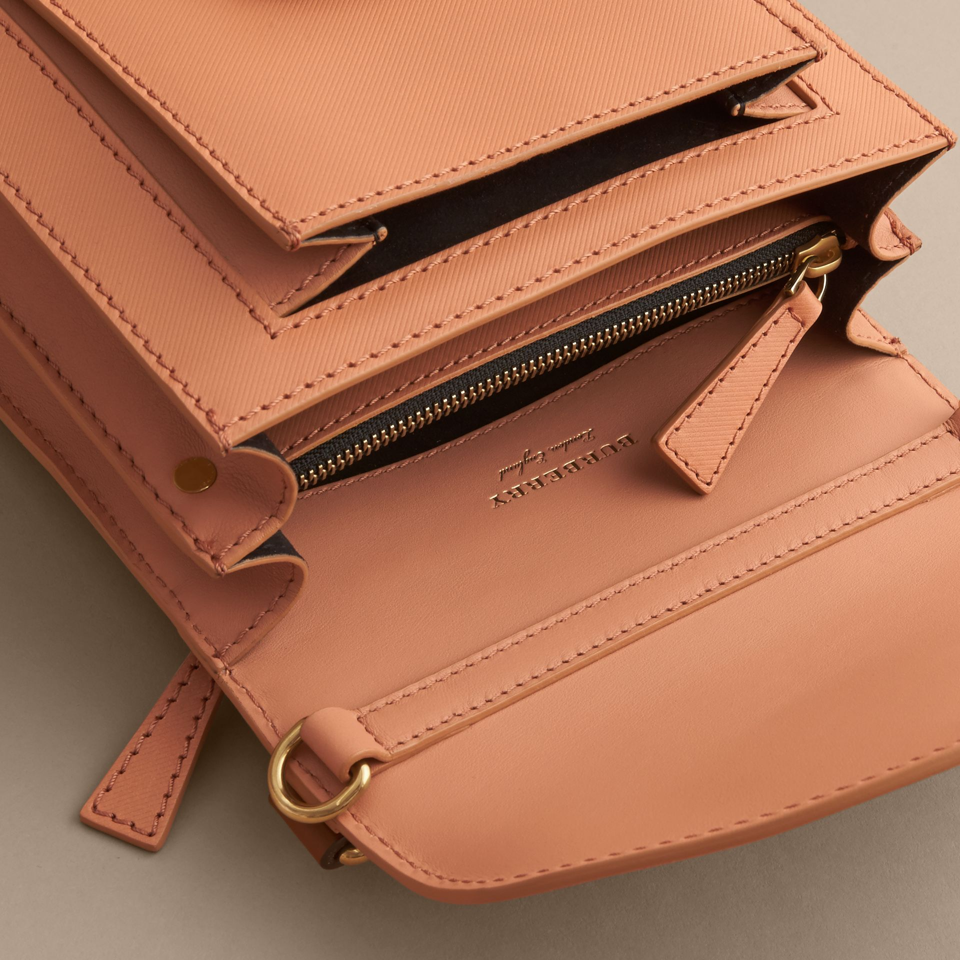 The Small DK88 Satchel in Pale Clementine - Men | Burberry - gallery image 5