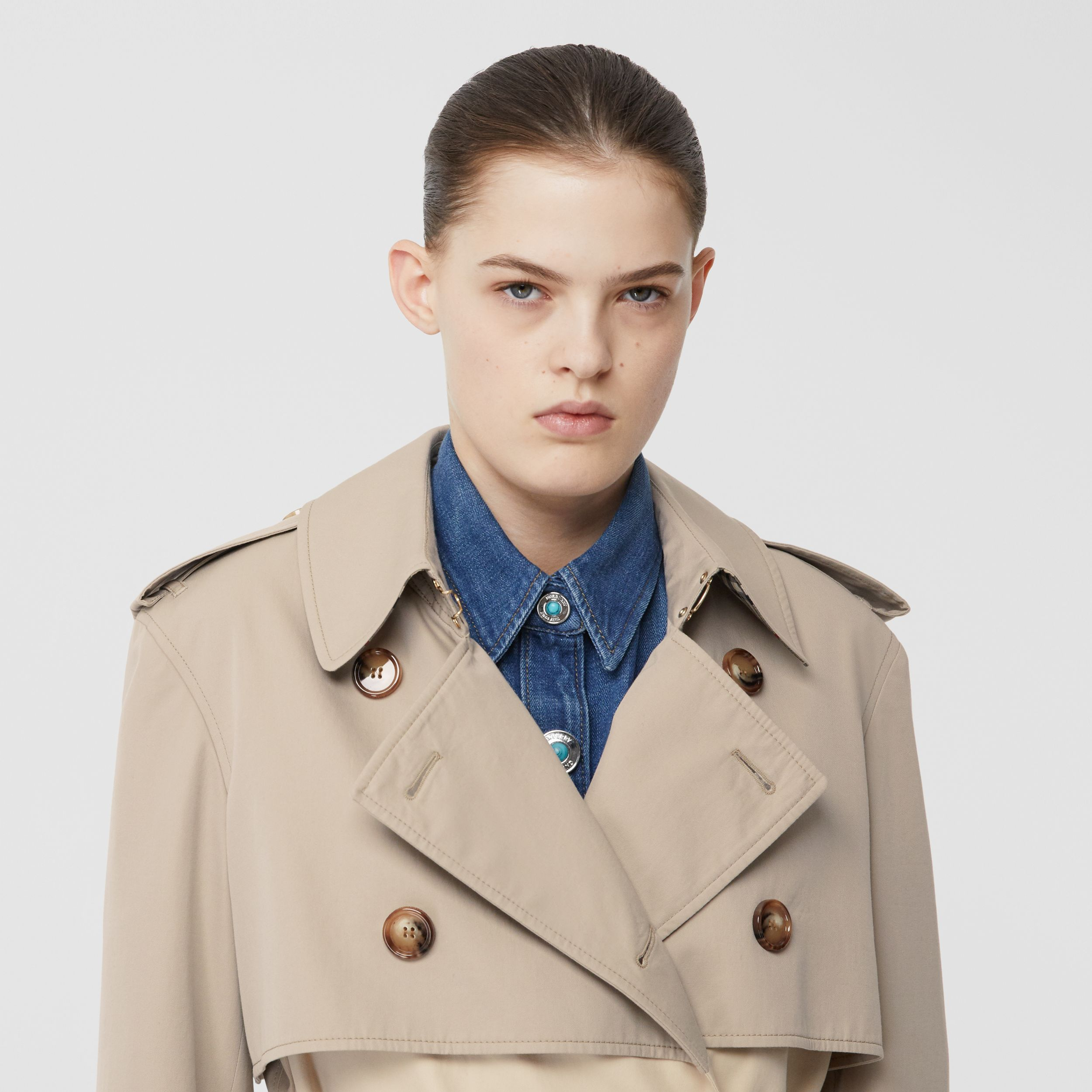 Two-tone Reconstructed Trench Coat in Light Sand - Women | Burberry - 2