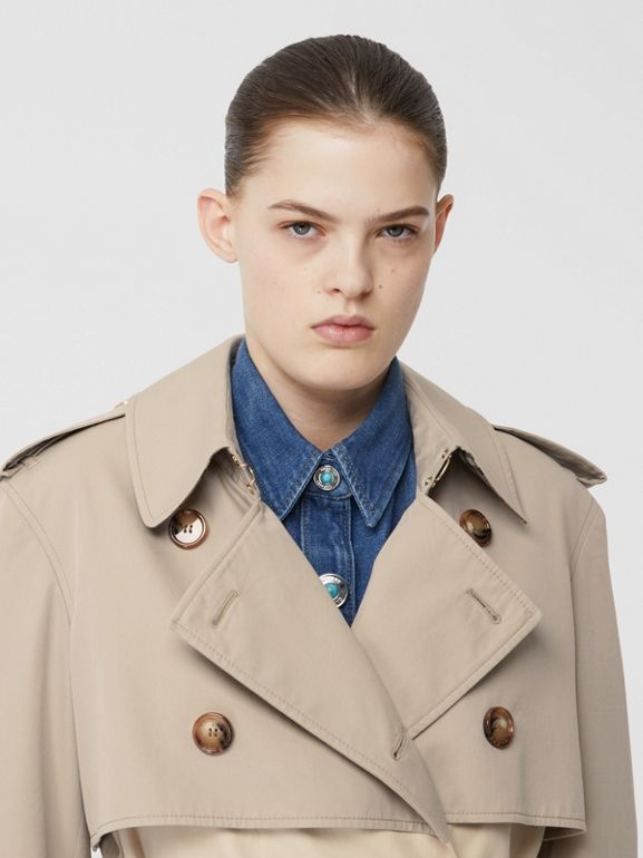 Two-tone Reconstructed Trench Coat in Light Sand - Women | Burberry - cell image 1