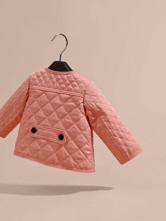 Light copper pink Collarless Diamond Quilted Jacket - cell image 3