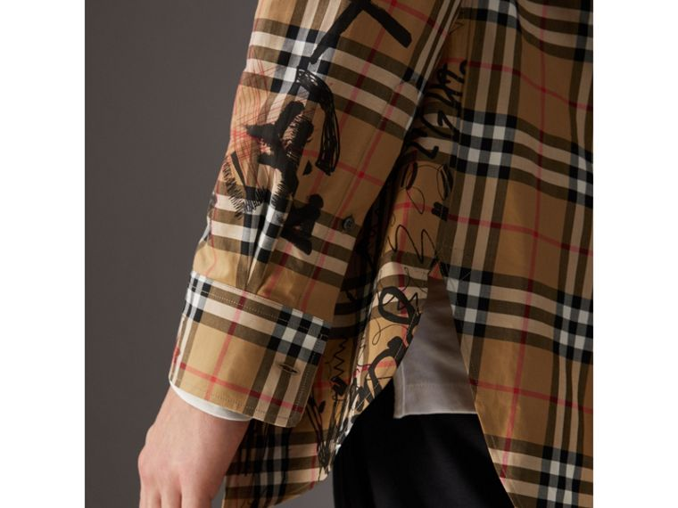 Burberry x Kris Wu Vintage Check Cotton Shirt in Antique Yellow - Men | Burberry United Kingdom - cell image 1