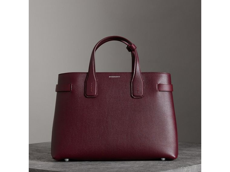 The Medium Banner in Leather and Vintage Check in Mahogany Red - Women | Burberry Canada - cell image 4