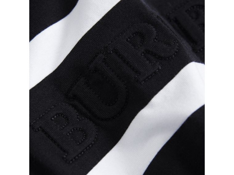 Long-sleeve Striped Cotton T-shirt in Black/white - Boy | Burberry - cell image 1