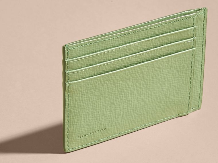 London Leather Card Case in Antique Green - cell image 1