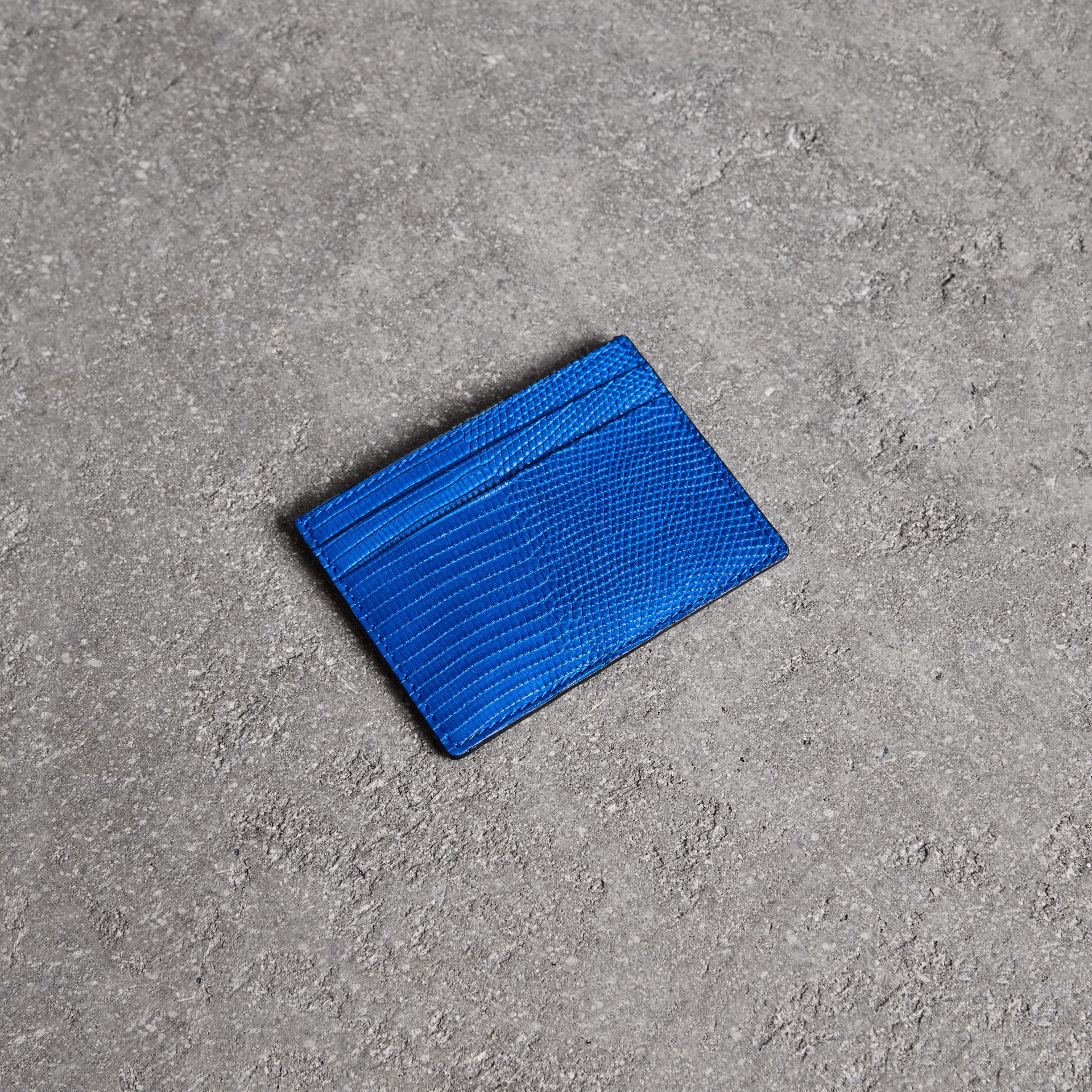 Lizard Card Case in Sapphire Blue | Burberry United Kingdom - gallery image 0