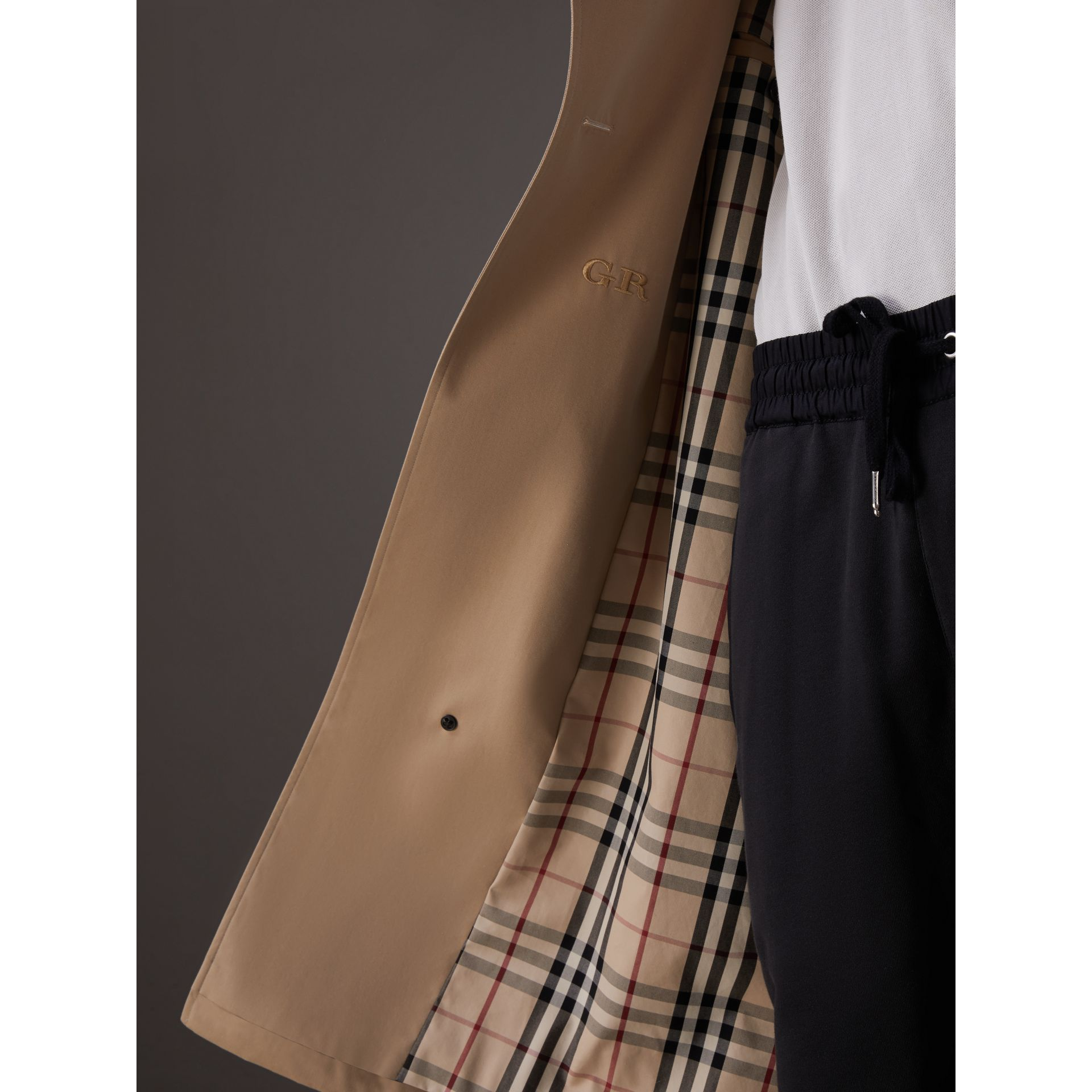 Gosha x Burberry Two-tone Trench Coat in Honey | Burberry United Kingdom - gallery image 1