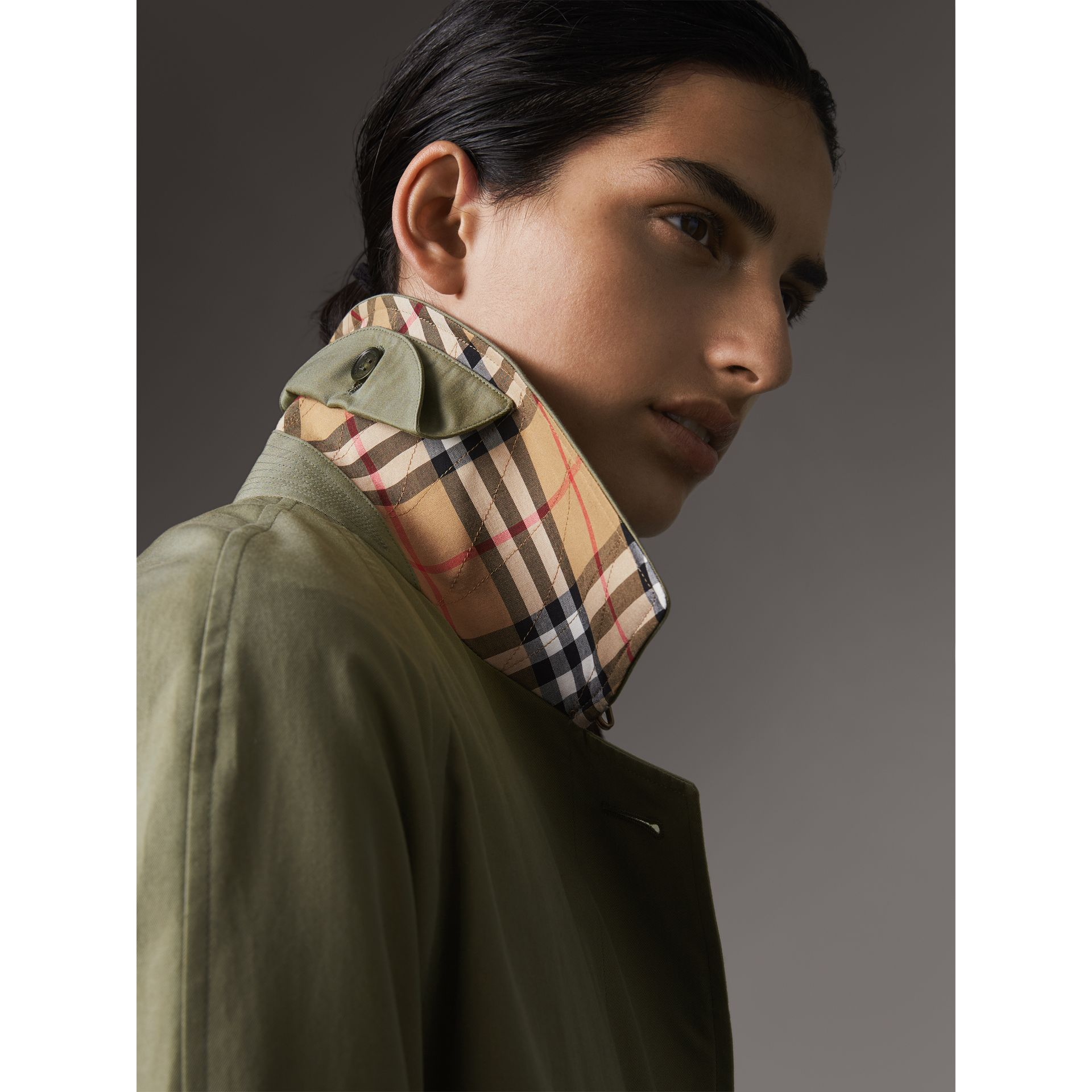 The Camden – Long Car Coat in Chalk Green - Women | Burberry - gallery image 1