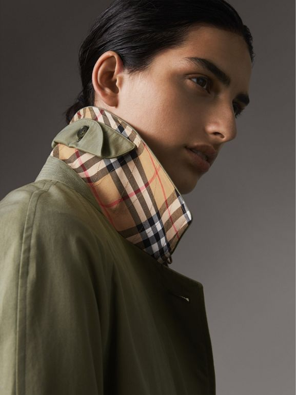 The Camden Car Coat in Chalk Green - Women | Burberry United States - cell image 1