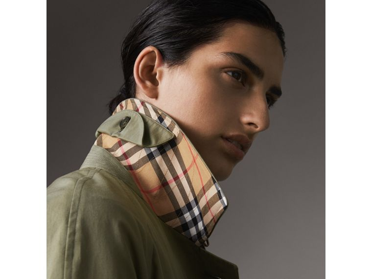 The Camden – Long Car Coat in Chalk Green - Women | Burberry Singapore - cell image 1
