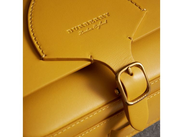 The Square Satchel in Leather in Larch Yellow - Women | Burberry United Kingdom - cell image 1