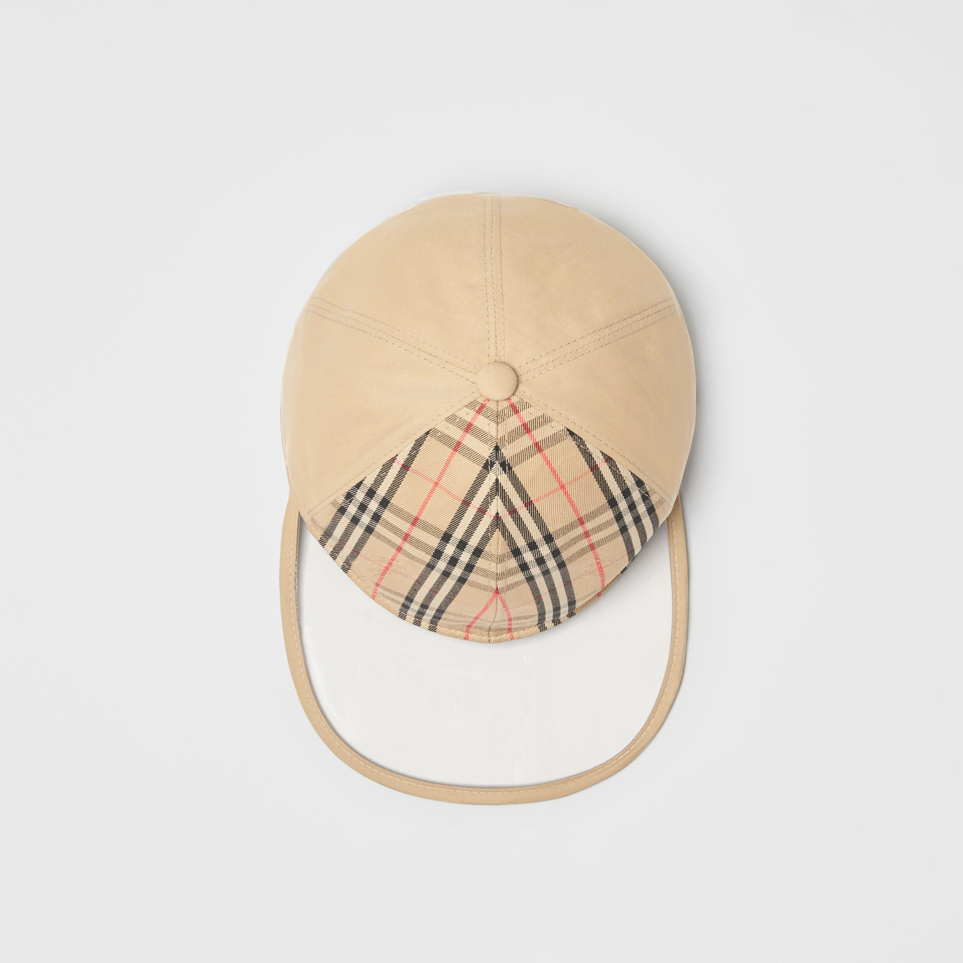 1983 Check Baseball Cap in Dark Sand | Burberry Australia - gallery image 0