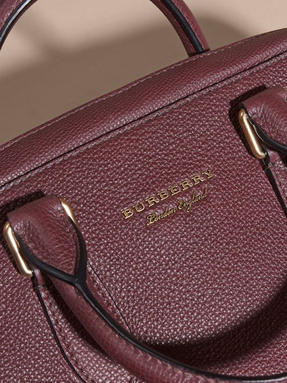 Wine Leather and House Check Briefcase Wine - cell image 2