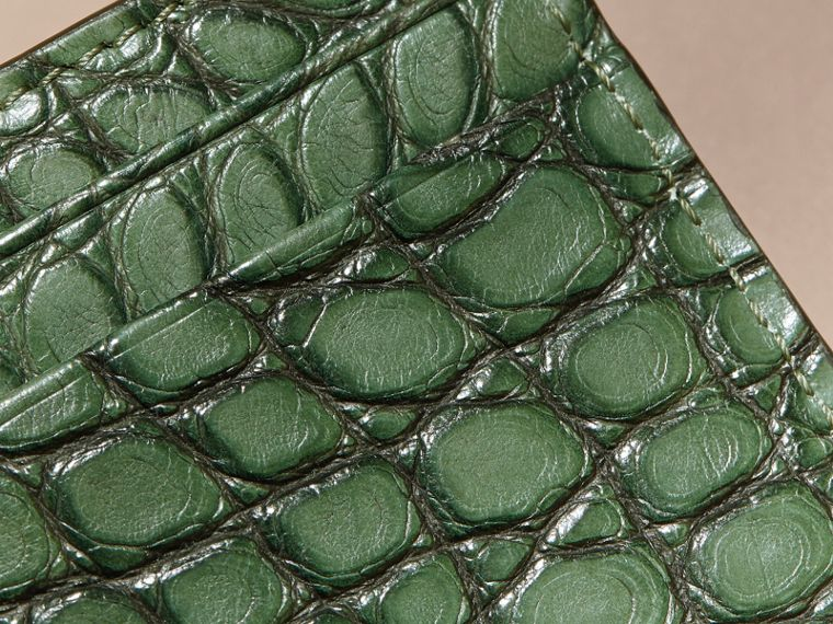 Sage Alligator Leather Card Case - cell image 1