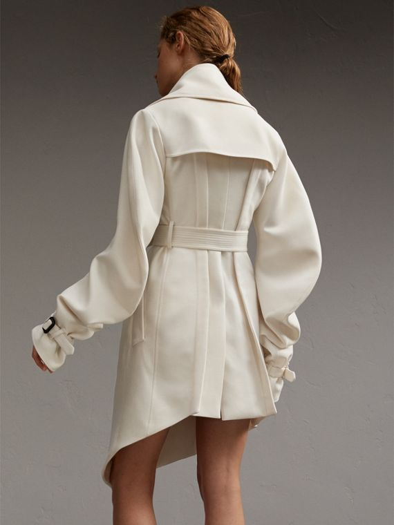 Lightweight Double-faced Wool Twill Asymmetric Coat - cell image 2