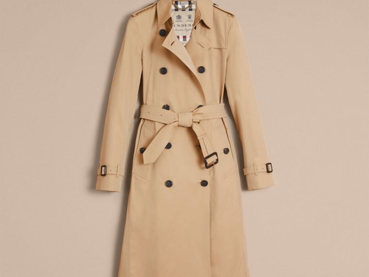 Honey The Kensington – Extra-long Heritage Trench Coat Honey - cell image 4