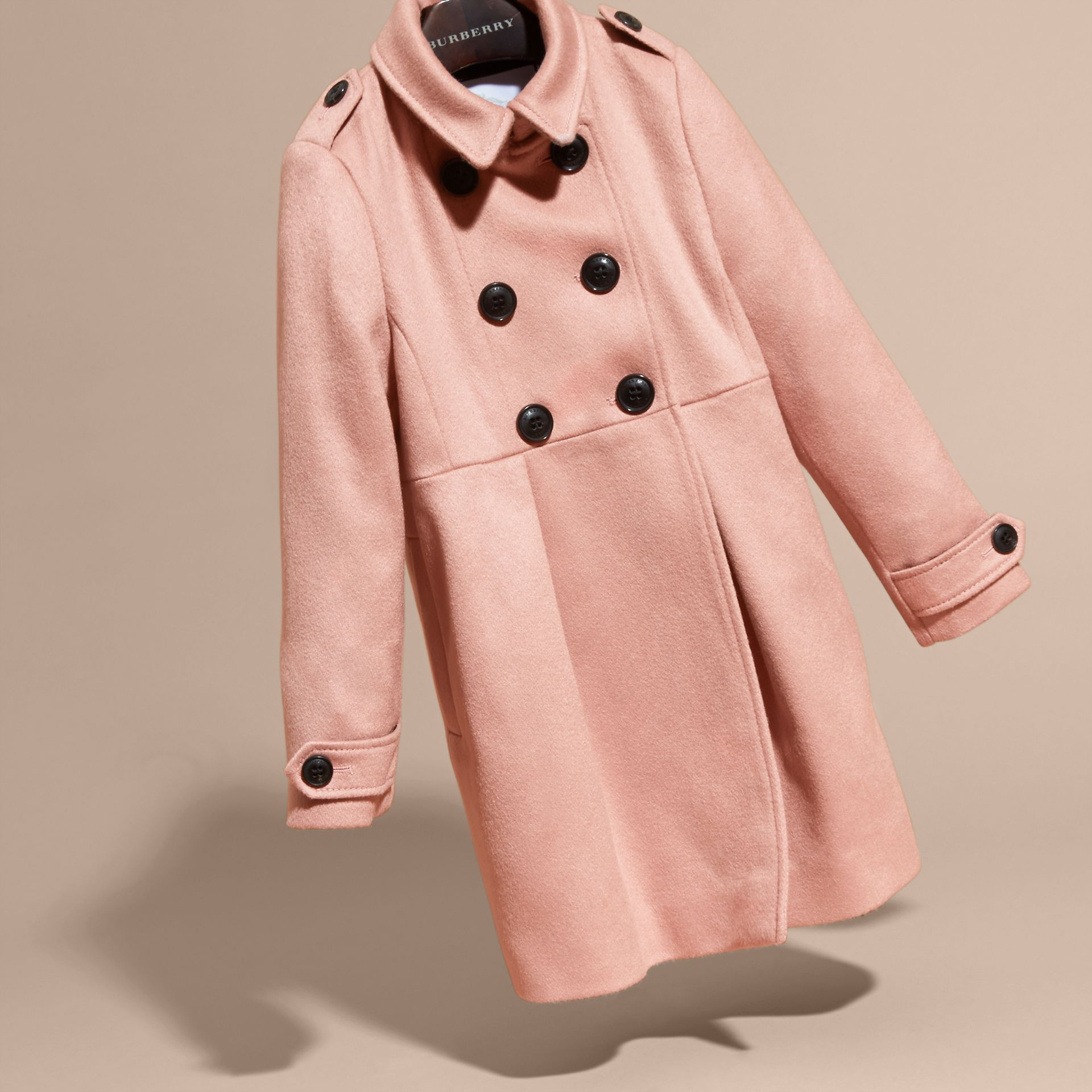 Chalk pink Cashmere Military Coat Chalk Pink - gallery image 3